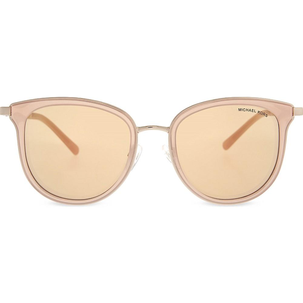 マイケル コース michael kors レディース ファッション小物 メガネ・サングラス【mk1010 adrianna i round-frame sunglasses】Pink