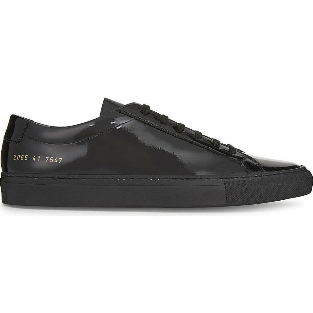 コモン プロジェクト common projects メンズ シューズ・靴 スニーカー【original achilles patent leather low-top trainers】Patent black