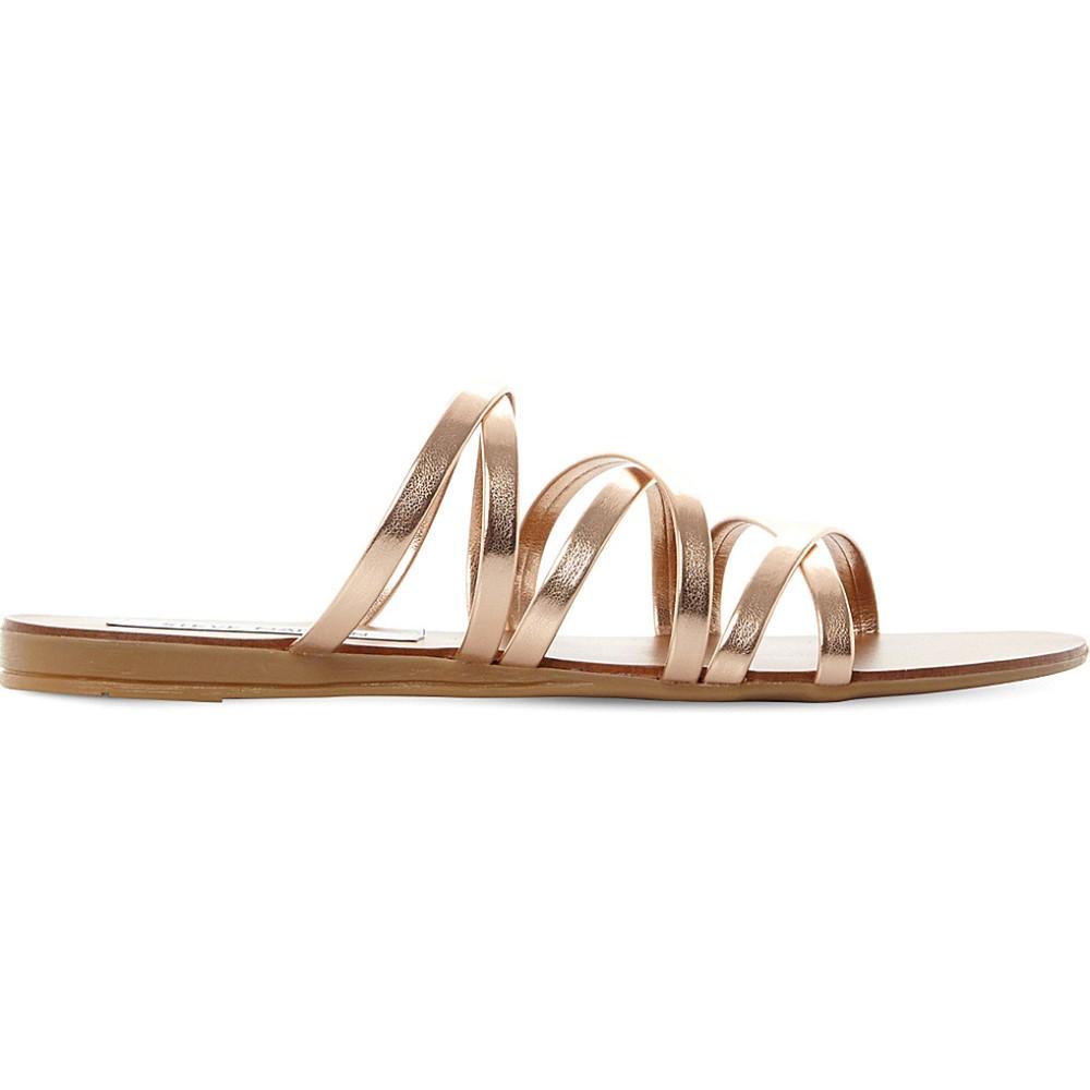 スティーブ マデン steve madden レディース シューズ・靴 サンダル・ミュール【rory cross strap metallic leather sandals】Rose gold-leather