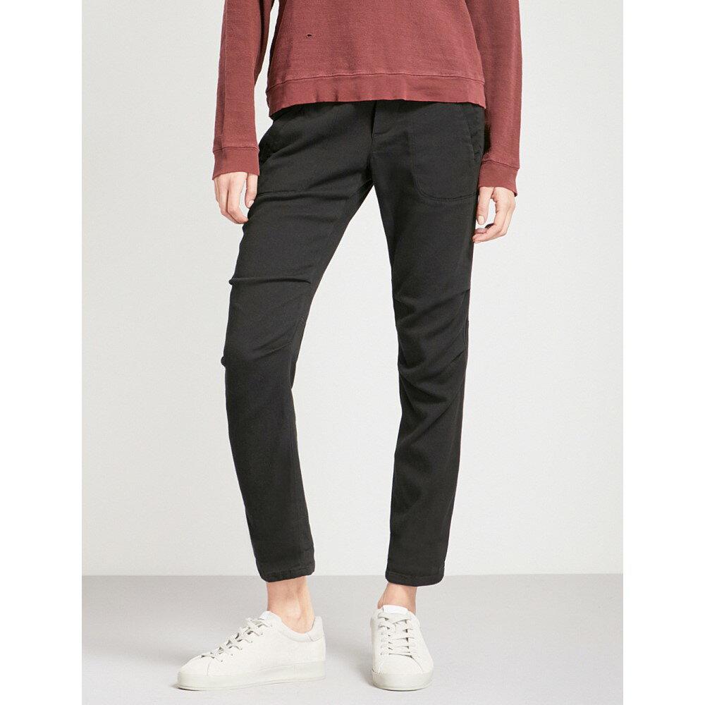 ジェームス パース レディース ボトムス・パンツ【straight mid-rise cotton-blend trousers】Black