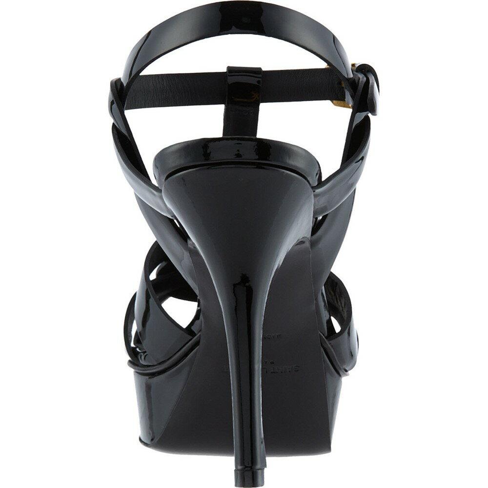 イヴ サンローラン レディース シューズ・靴 サンダル・ミュール【tribute 75 patent-leather sandals】Black