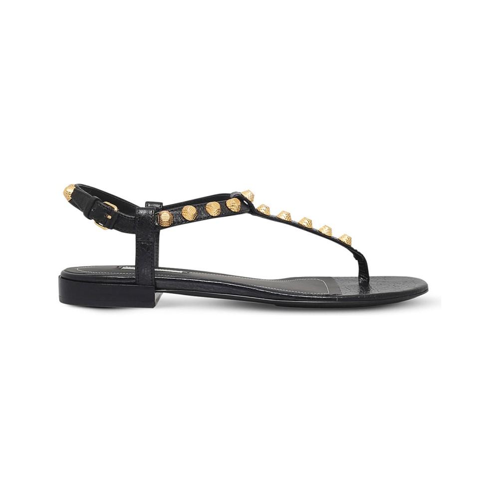 バレンシアガ レディース シューズ・靴 サンダル・ミュール【giant gold strap sandals】Black