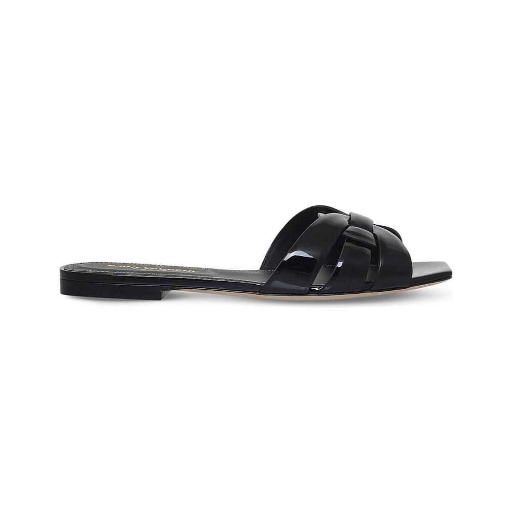 イヴ サンローラン レディース シューズ・靴 サンダル・ミュール【nu pieds 05 leather sandals】Black