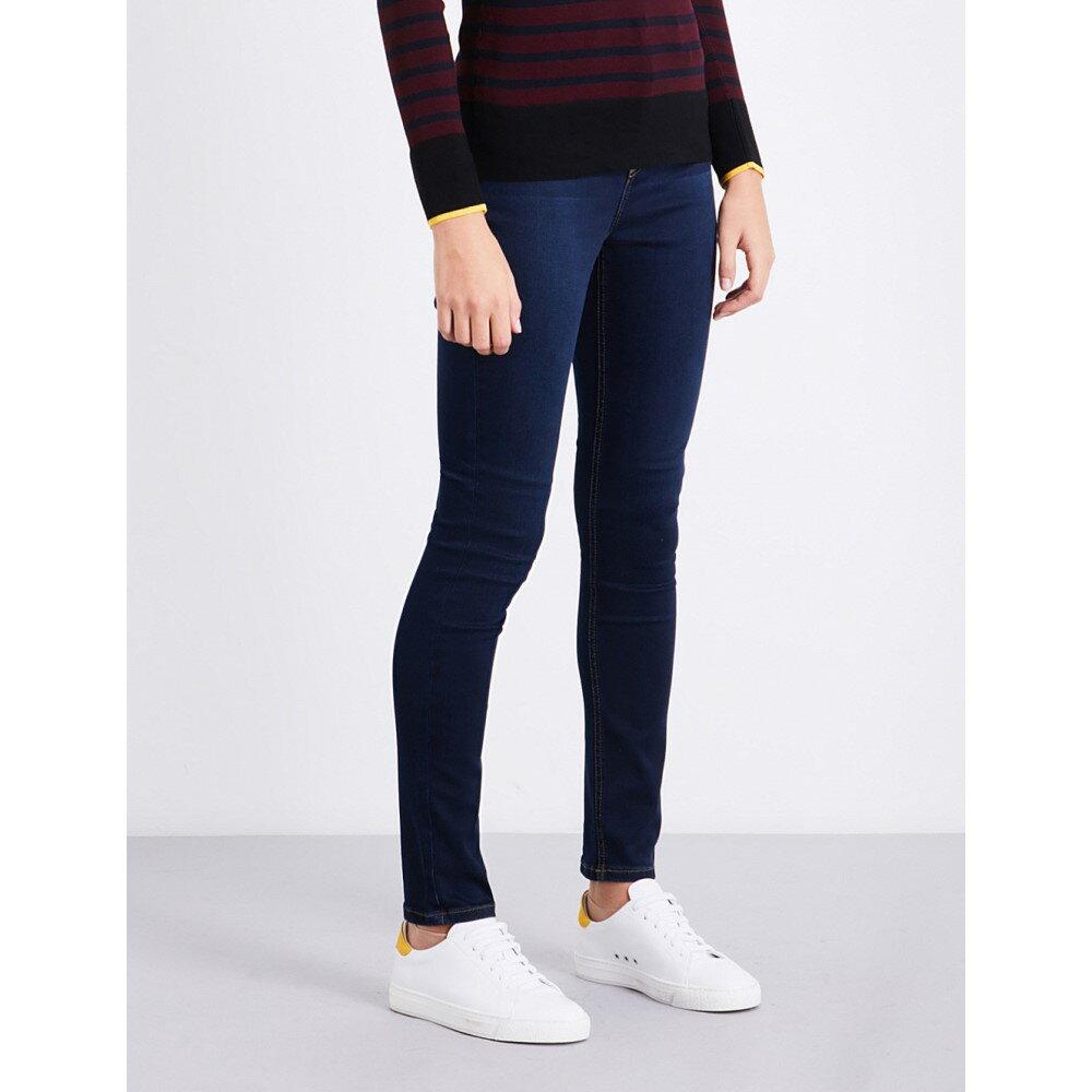 ウェアハウス レディース ボトムス・パンツ ジーンズ・デニム【powerhold slim-fit skinny mid-rise jeans】Blue