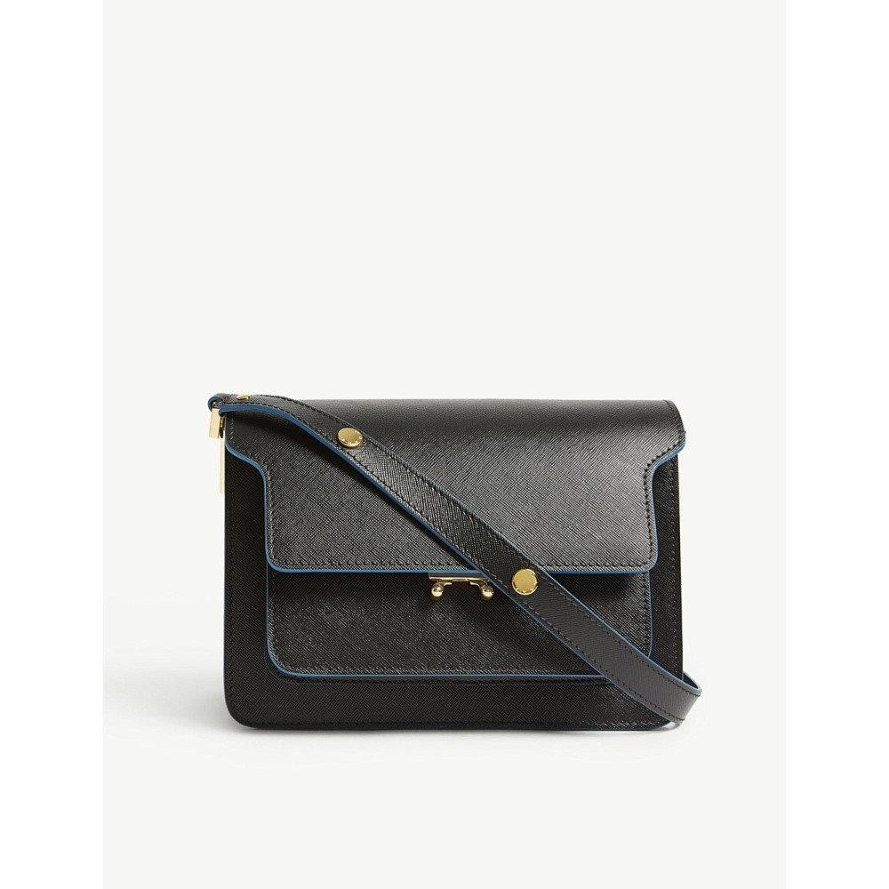 マルニ レディース バッグ ショルダーバッグ【trunk leather shoulder bag】Black