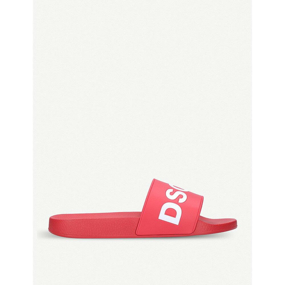 ディースクエアード レディース シューズ・靴 サンダル・ミュール【dune logo pool slides】Red/other