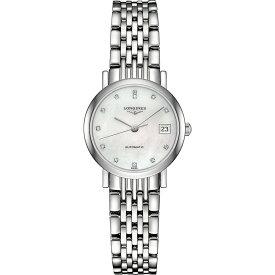 ロンジン レディース 腕時計【l4.309.4.87.6 elegant collection mother-of-pearl and stainless steel watch】Mother of pearl