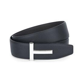 トム フォード メンズ ベルト【reversible t logo leather belt】Black brown slv