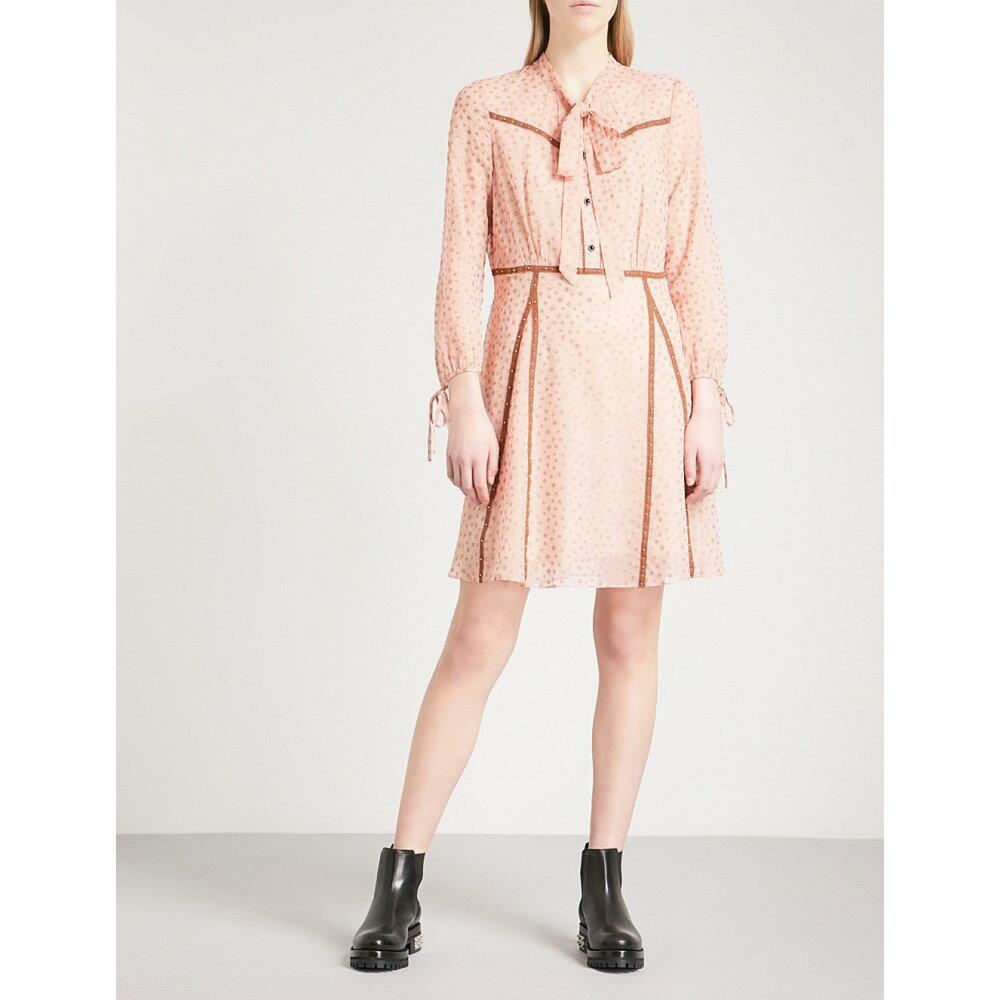 コーチ レディース ワンピース・ドレス ワンピース【star-print georgette mini dress】Pink