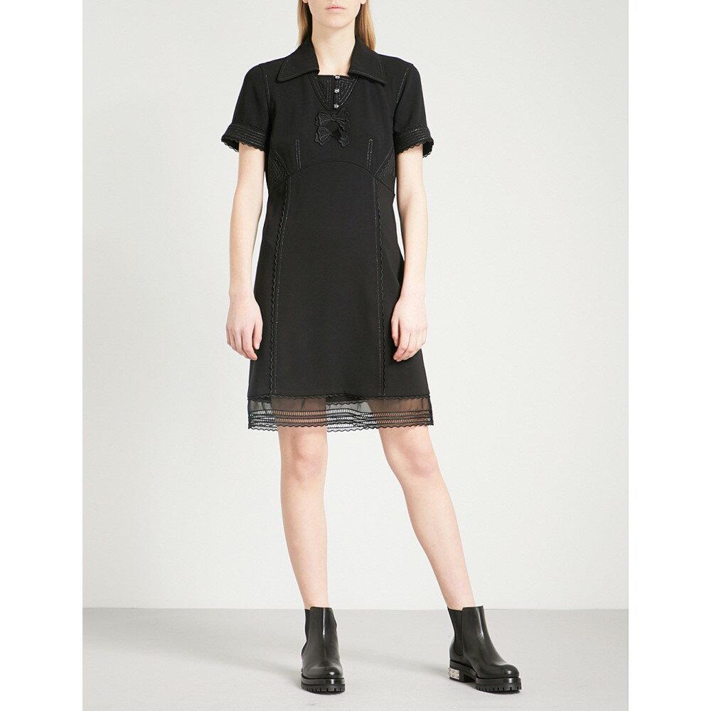 コーチ レディース ワンピース・ドレス ワンピース【metallic-embroidered woven dress】Black