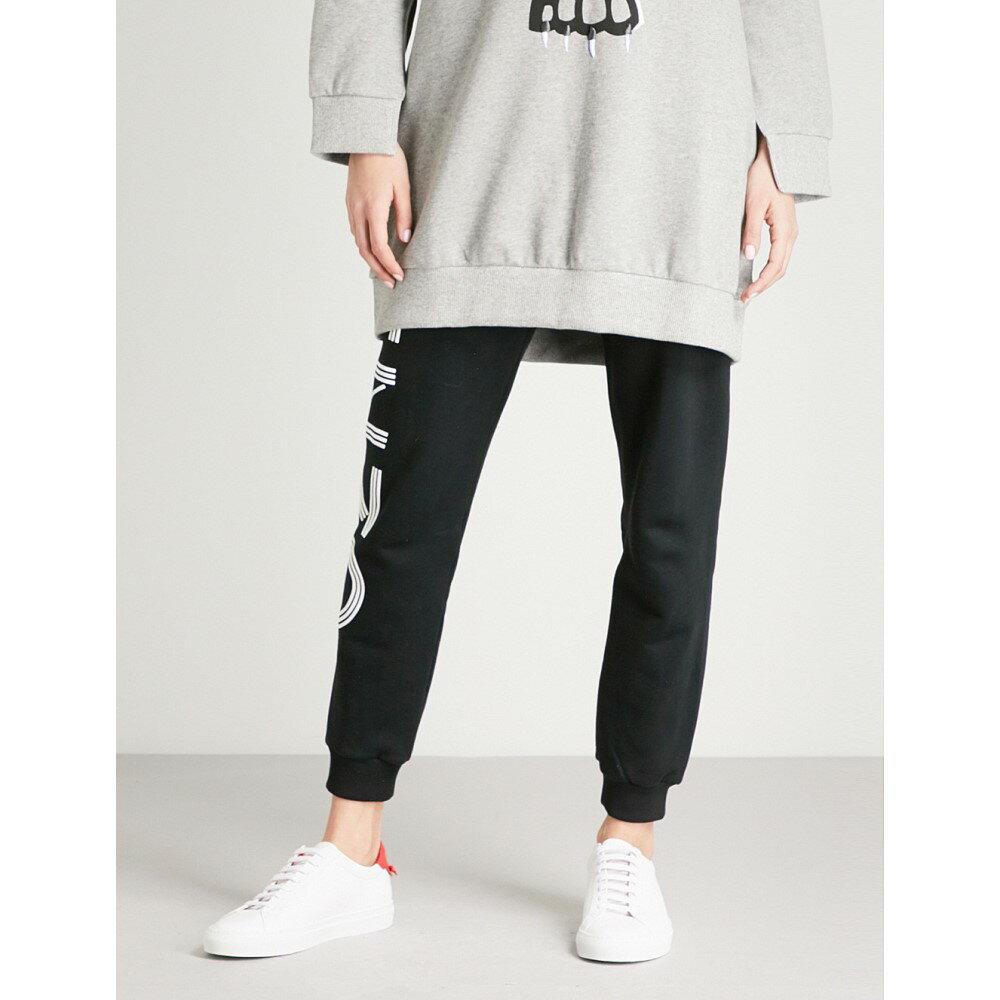 ケンゾー レディース ボトムス・パンツ ジョガーパンツ【logo-print cotton-jersey jogging bottoms】Black