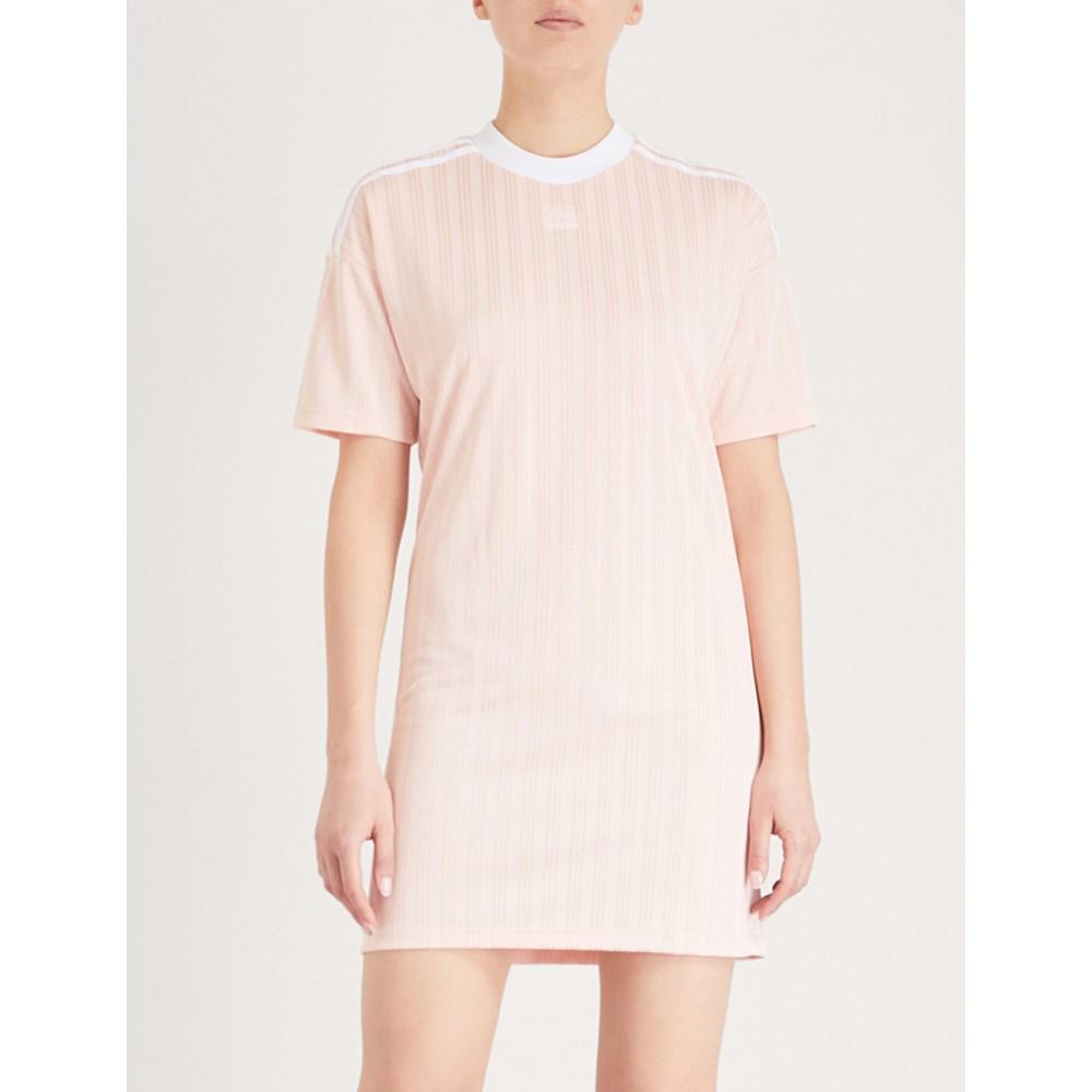 アディダス レディース ワンピース・ドレス ワンピース【trefoil woven dress】Blush pink s-st