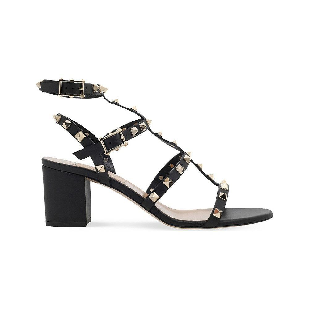 ヴァレンティノ レディース シューズ・靴 サンダル・ミュール【garavani rockstud 60 leather sandals】Black
