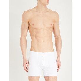 ハンロ メンズ インナー・下着 ボクサーパンツ【slim-fit stretch-cotton trunks】White