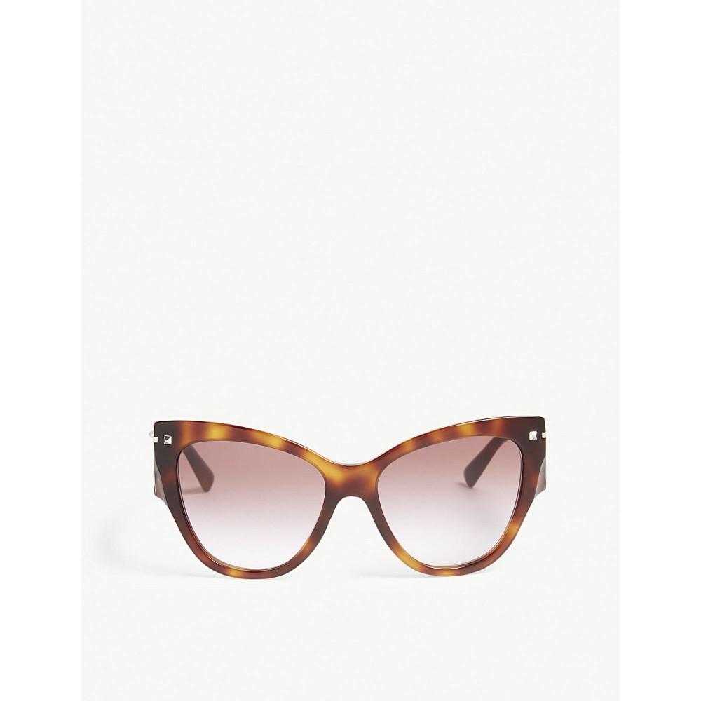 ヴァレンティノ レディース メガネ・サングラス【va4028 cat-eye frame sunglasses】Havana