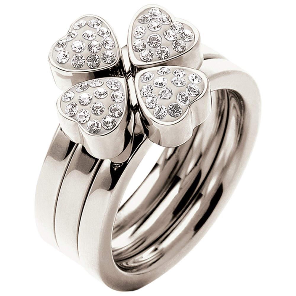 フォリフォリ レディース ジュエリー・アクセサリー 指輪・リング【heart4heart multiwear crystal ring】Silver