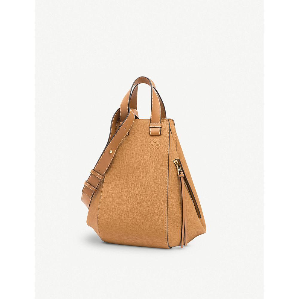 ロエベ レディース バッグ ハンドバッグ【hammock medium leather handbag】Light caramel