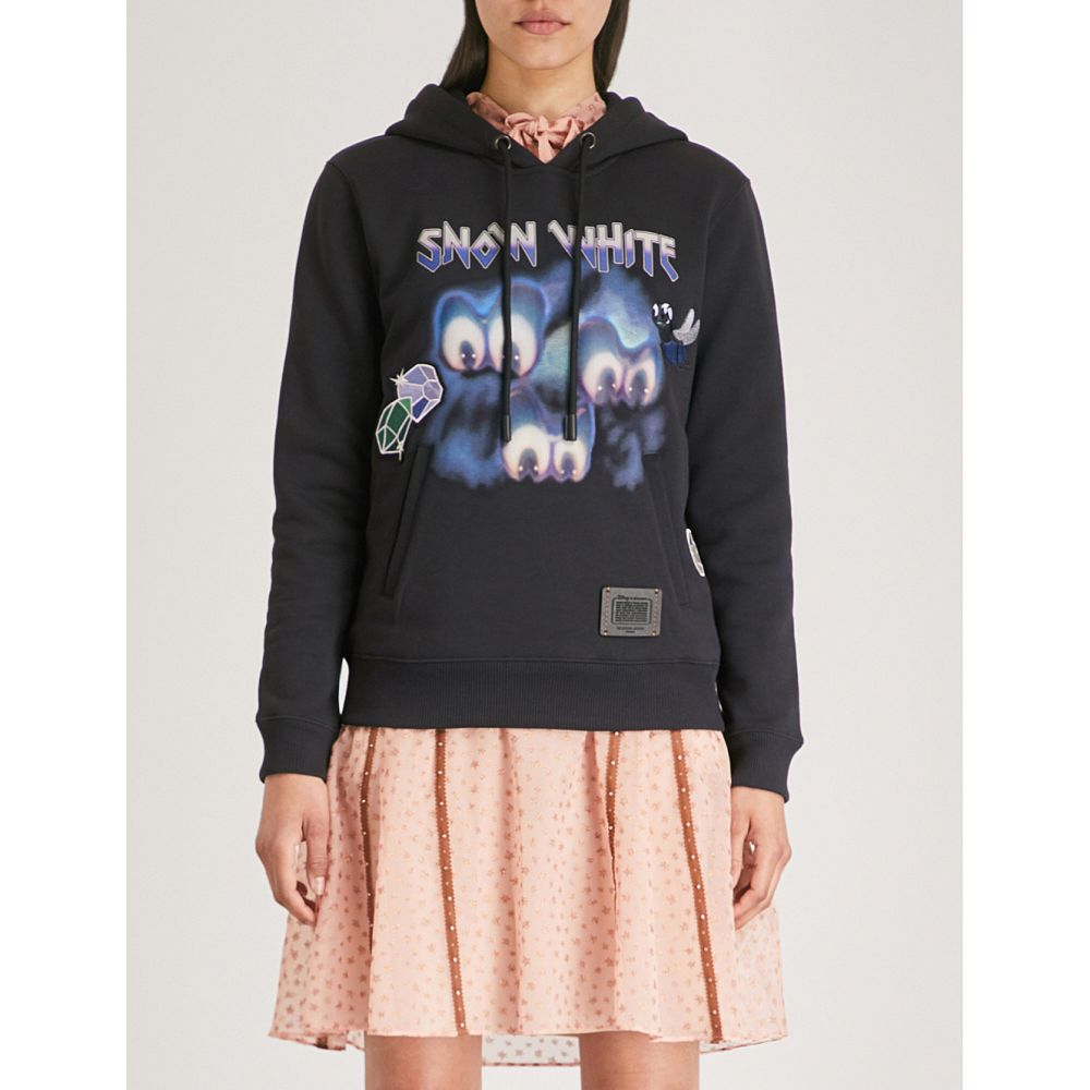 コーチ レディース トップス パーカー【dark disney sleepy cotton-jersey hoody】Dark shadow