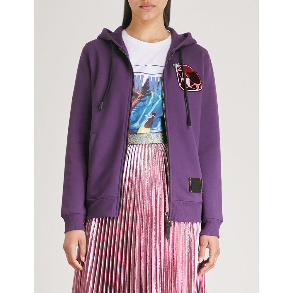 コーチ レディース トップス パーカー【dark disney dopey cotton-jersey hoody】Purple