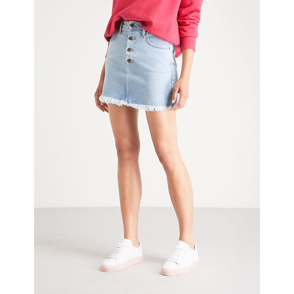 ゲス レディース スカート ミニスカート【high-rise denim mini skirt】Indigo