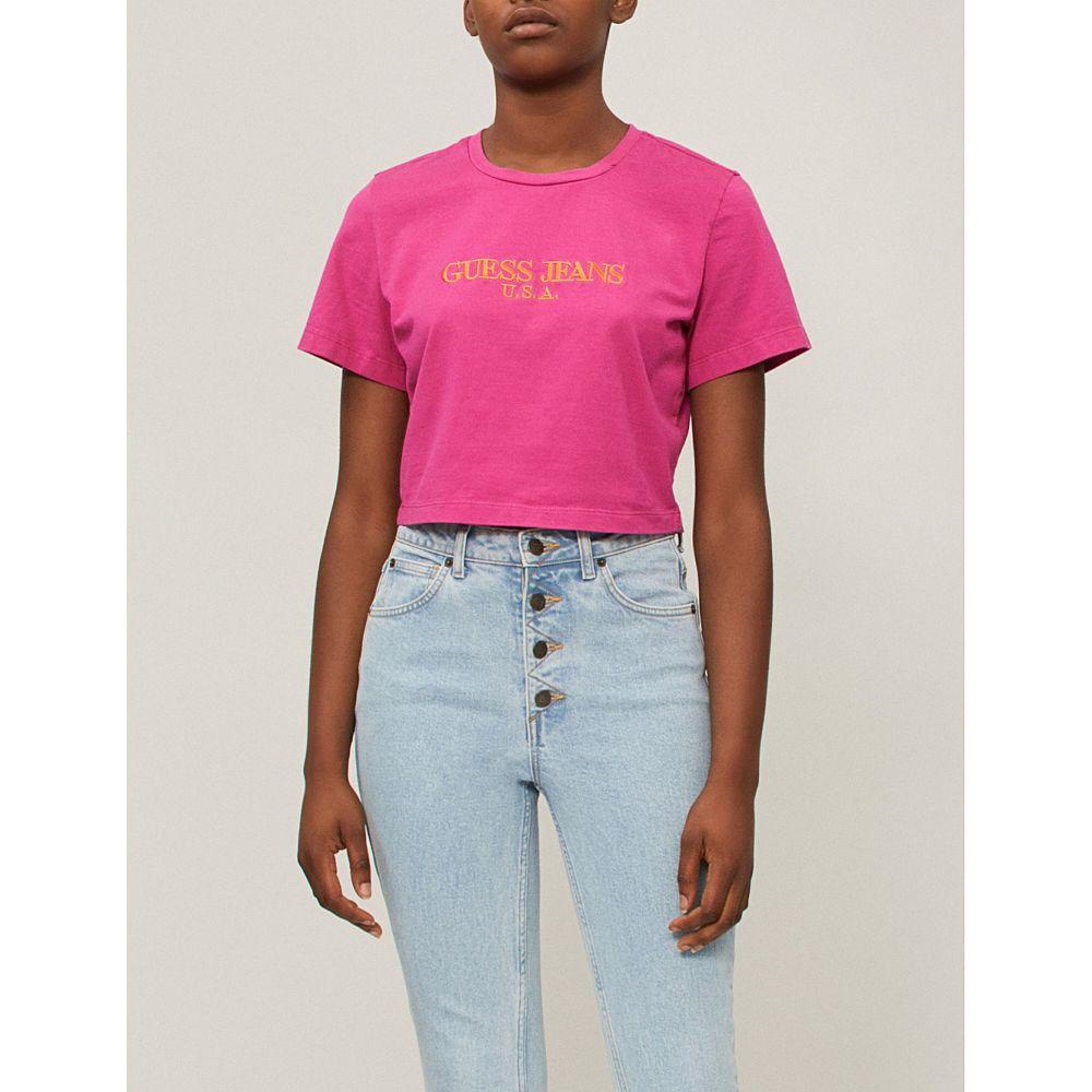 ゲス レディース ボトムス・パンツ ジーンズ・デニム【zip-embellished skinny high-rise jeans】Indigo