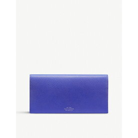 スマイソン smythson レディース 財布【panama slim leather travel wallet】Cobalt