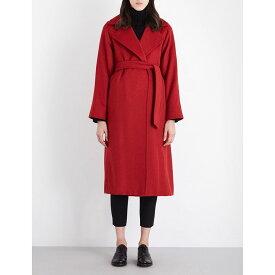 マックスマーラ max mara レディース アウター コート【manuela camel-hair wrap coat】Red