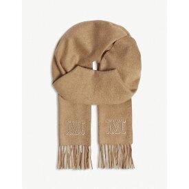 マックスマーラ max mara レディース マフラー・スカーフ・ストール【logo camel hair scarf】Camel
