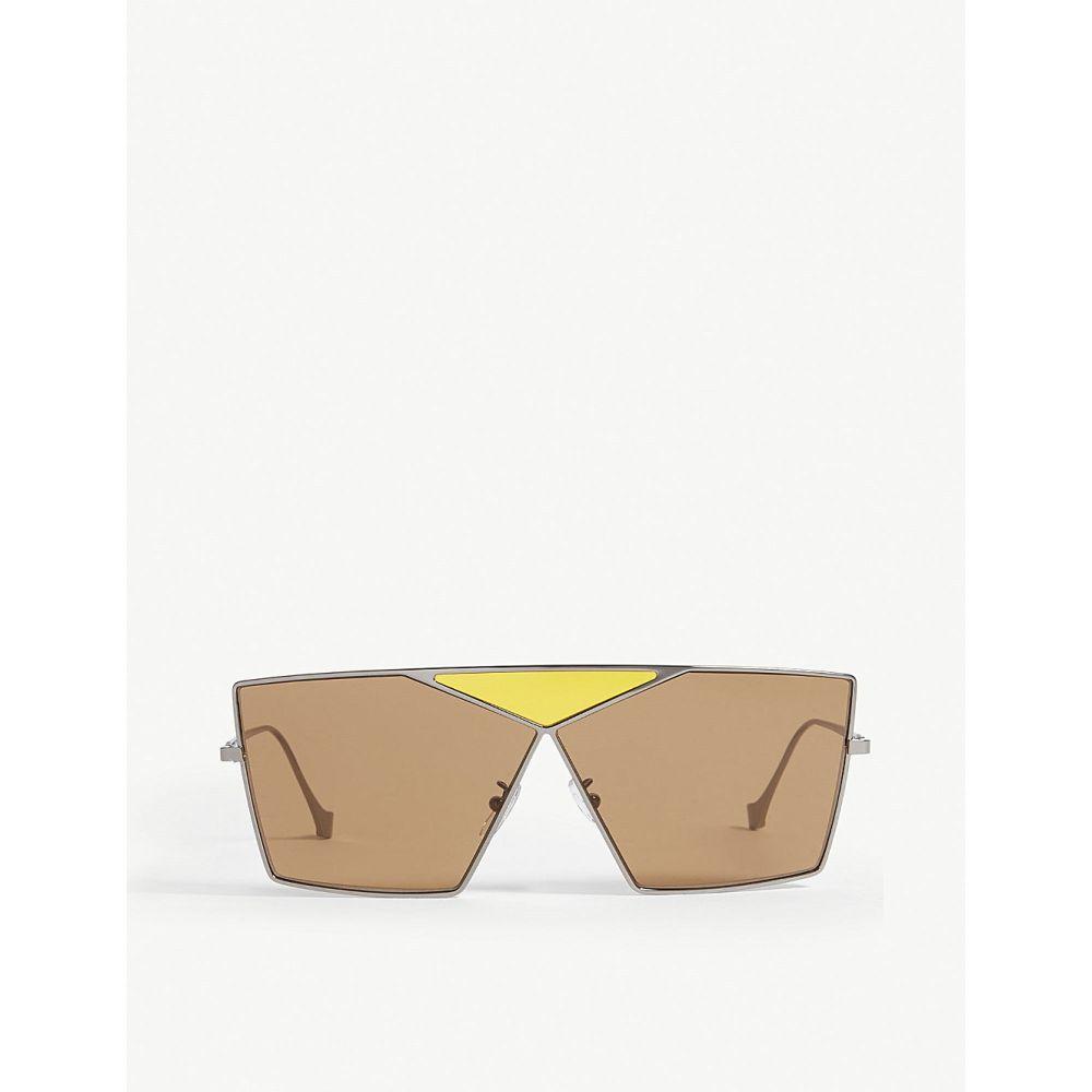 ロエベ loewe レディース メガネ・サングラス【lw40011u puzzle irregular-frame sunglasses】Grey