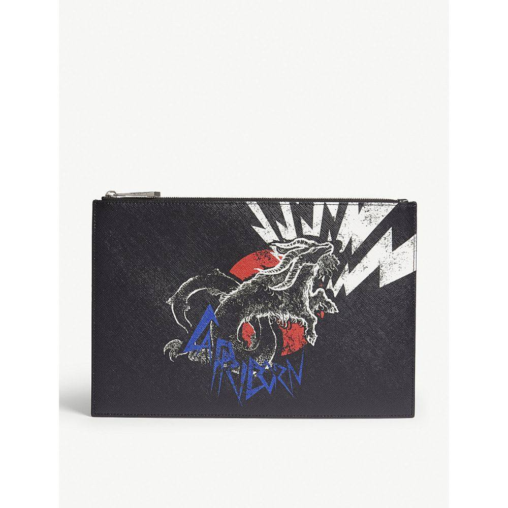 ジバンシー givenchy レディース ポーチ【capricorn leather zip pouch】Black
