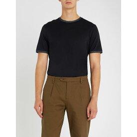 テッドベーカー ted baker メンズ トップス Tシャツ【polka-dot embellished cotton t-shirt】Navy