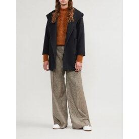 マックスマーラ max mara レディース アウター コート【rialto wrap-over camel hair coat】Navy