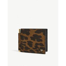 トム フォード tom ford メンズ 財布【leopard money clip leather wallet】Leopard