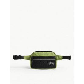 ステューシー stussy レディース バッグ ボディバッグ・ウエストポーチ【grid nylon bum bag】Lime