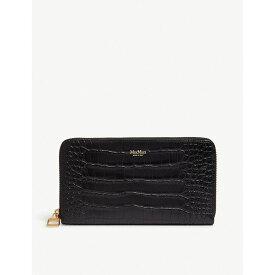 マックスマーラ max mara レディース 財布【reptile-effect leather wallet】Black
