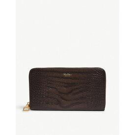 マックスマーラ max mara レディース 財布【reptile-effect leather wallet】Brown
