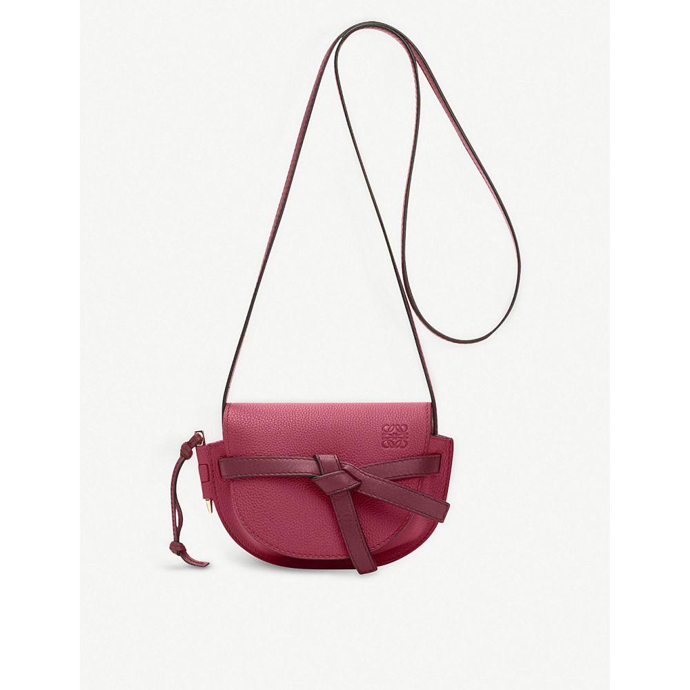 ロエベ loewe レディース バッグ ショルダーバッグ【gate small leather shoulder bag】Raspberry/wine