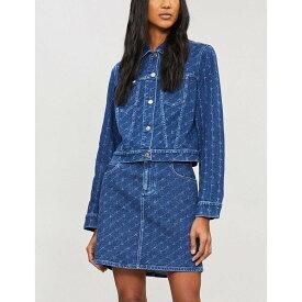 ステラ マッカートニー stella mccartney レディース スカート【logo-print denim skirt】Dark classic blue
