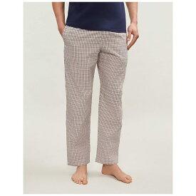 カルバンクライン calvin klein メンズ インナー・下着 パジャマ・ボトムのみ【striped cotton-jersey pyjama bottoms】Navy red