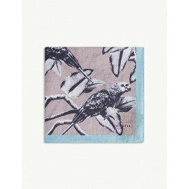 テッドベーカー ted baker メンズ ハンカチ・チーフ【hatoff parrot linen pocket square】Dusky-pink