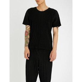 イッセイ ミヤケ homme plisse issey miyake メンズ トップス Tシャツ【short-sleeved pleated top】Black
