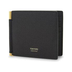 トム フォード tom ford メンズ 財布【textured leather money clip wallet】Black