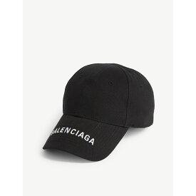 バレンシアガ balenciaga レディース 帽子 キャップ【logo cap】Black/white