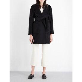 マックスマーラ max mara レディース アウター コート【rialto wrap-over camel hair coat】Black