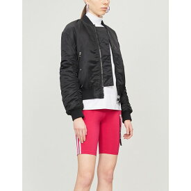 アディダス adidas originals レディース 自転車 ボトムス・パンツ【logo-embroidered cotton-jersey cycling shorts】Red