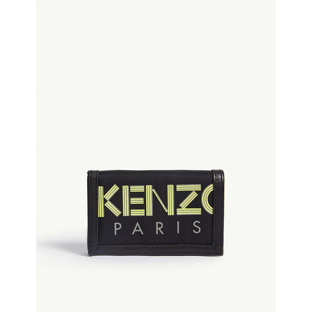 ケンゾー kenzo メンズ 財布【reflective leather wallet】Blk yel sil