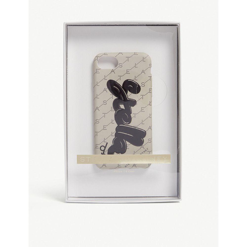 ステラ マッカートニー stella mccartney レディース iPhone (8)ケース【stella logo iphone 7/8 case】Sand/black