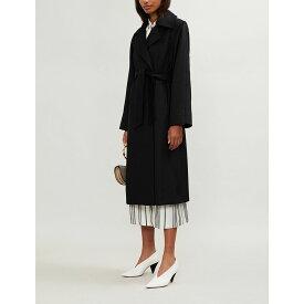 マックスマーラ max mara レディース アウター コート【manuela camel hair wrap coat】Black