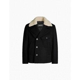 ニール バレット NEIL BARRETT メンズ アウター ジャケット【Shearling-collar wool-blend jacket】Black natural