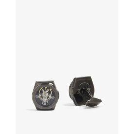 タテオシアン TATEOSSIAN メンズ カフス・カフリンクス【Tourbillion gear cufflinks】Black